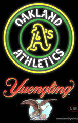 Yuengling Oakland As MLB Real Neon Glass Tube Neon Sign