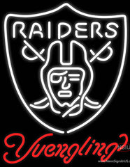Yuengling Oakland Raiders NFL Beer Real Neon Glass Tube Neon Sign