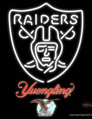 Yuengling Oakland Raiders NFL Real Neon Glass Tube Neon Sign