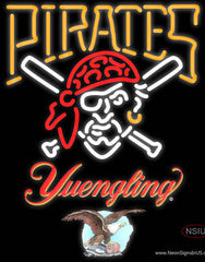 Yuengling Pittsburgh Pirates MLB Real Neon Glass Tube Neon Sign
