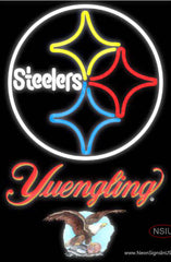 Yuengling Pittsburgh Steelers NFL Real Neon Glass Tube Neon Sign