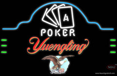 Yuengling Poker Ace Cards Real Neon Glass Tube Neon Sign
