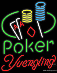 Yuengling Poker Ace Coin Table Real Neon Glass Tube Neon Sign