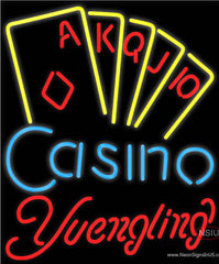 Yuengling Poker Casino Ace Series Real Neon Glass Tube Neon Sign