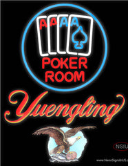 Yuengling Poker Room Real Neon Glass Tube Neon Sign
