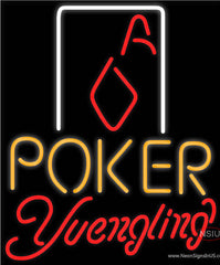 Yuengling Poker Squver Ace Real Neon Glass Tube Neon Sign