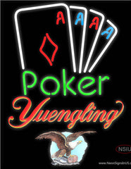 Yuengling Poker Tournament Real Neon Glass Tube Neon Sign