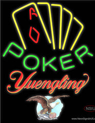 Yuengling Poker Yellow Real Neon Glass Tube Neon Sign