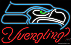 Yuengling Seattle Seahawks NFL Beer Real Neon Glass Tube Neon Sign