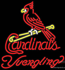 Yuengling St Louis Cardinals MLB Beer Real Neon Glass Tube Neon Sign