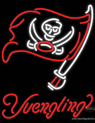 Yuengling Tampa Bay Buccaneers NFL Beer Real Neon Glass Tube Neon Sign
