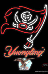 Yuengling Tampa Bay Buccaneers NFL Real Neon Glass Tube Neon Sign