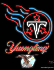 Yuengling Tennessee Titans NFL Real Neon Glass Tube Neon Sign