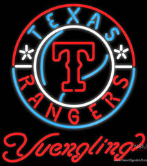 Yuengling Texas Rangers MLB Beer Real Neon Glass Tube Neon Signs