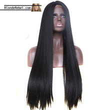 "Jordan (20""-30"" Silky Straight Natural Black Synthetic Heat Safe Lace Front Wig)"