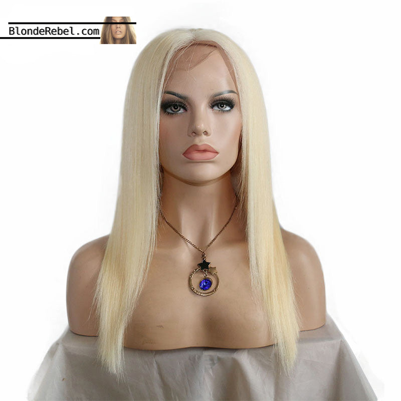Becky II (Silky Straight Blonde 100% Remy Human Hair 13x3 LF Wig, 10