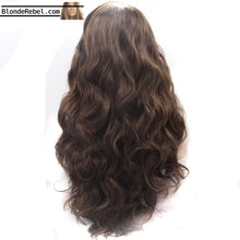"Angie (20""-26"" Wavy Body Wave Dark Coffee Brown Synthetic Heat Safe Lace Front Wig)"