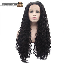 "Lena (22""-26"" Natural Black Curly Synthetic Heat Safe Lace Front Wig)"