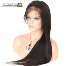 "Cherie (Silky Straight Natural Black 100% Human Hair Lace Front Wig, 6"" Parting Space, 10""-26"" available)"