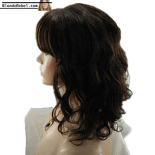 Kerri (Natural Black 100% Human Hair Body Wave Lace Front Wig w/ Bangs, 10-14 Inches available)