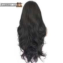 "Kelby (18""-28"" Silky Body Wave Natural Black Synthetic Heat Safe Lace Front Wig)"