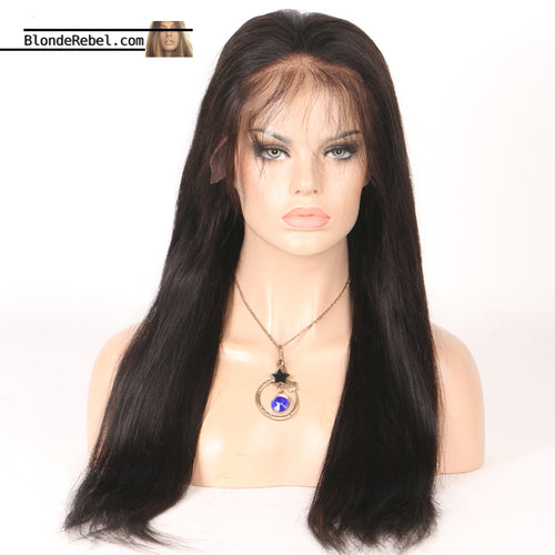 Cherie (Silky Straight Natural Black 100% Human Hair Lace Front Wig, 6