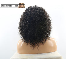 "Nathalie (Water Wave Curly Natural Black 100% Remy Human Hair 13x6 LF Wig 10""-24"" avail.)"