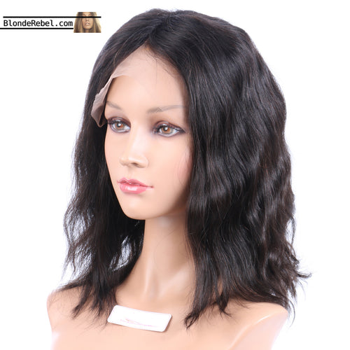 Missy (Wavy Natural Black 100% Human Hair Lace Front Wig w/ 6