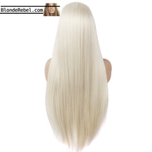 "Godiva (20""-28"" Straight Rooted Light Blonde Synthetic Heat Safe Lace Front Wig)"