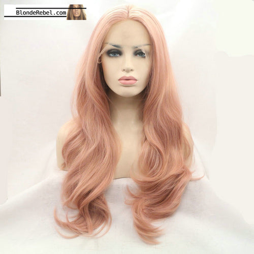 Karissa (Long Rose Gold Heat Resistant Synthetic Wig)
