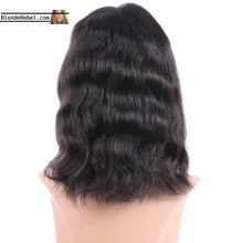 "Missy (Wavy Natural Black 100% Human Hair Lace Front Wig w/ 6"" Parting, 10-18 Inches available)"