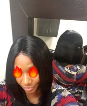 "Jackie (Silky Straight Natural Black 100% Human Hair Lace Front Bob Wig, 6"" Parting, 10""-14"" available)"