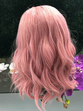 Atomic Pink (Pink Bobbed And Banged Heat Safe Synthetic Wig)
