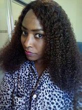 "Lady B (Brazilian Curly Ombre Roots 100% Remy Human Hair LF Wig 3"" Parting, 10""-24"" Choose Density)"