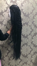 "Inches (36"" Straight Body Natural Black Synthetic Heat Safe Lace Front Wig)"