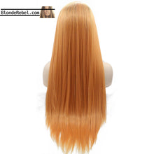 "LeeLee (20""-30"" Silky Straight Orange Ombre Synthetic Lace Front Wig)"
