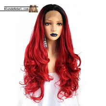 "Candy Apple (Ombre Rooted Red Heat Safe Synthetic Lace Front Wig, 20""-28"" Avail.)"