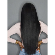 Sol (Natural Black Silky Straight Synthetic Heat Safe 13x6 LF Long Wig)