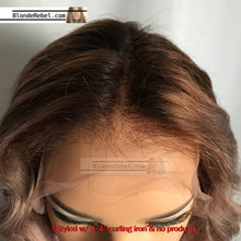 "Jing (100% HH, 6"" Lace Front Balayage Ombre Custom Unit & Color, 13""-15"" Length ~ Custom Collection)"