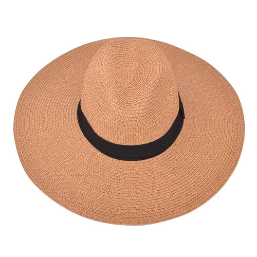 Hatty (Bohemian Chic Summer Wide Brimmed Straw Fedora)
