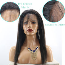 "Chelle (Silky Straight Natural Black 100% Remy Human Hair 13x6 LF Wig 14""-24"" avail.)"