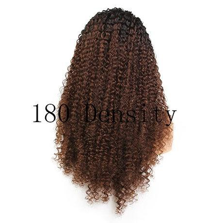 Lady B (Brazilian Curly Ombre Roots 100% Remy Human Hair LF Wig 3