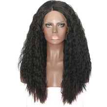 "Adele (20""-22"" Kinky Water Wave in Natural Brown Black Synthetic Heat Safe Lace Front Wig)"
