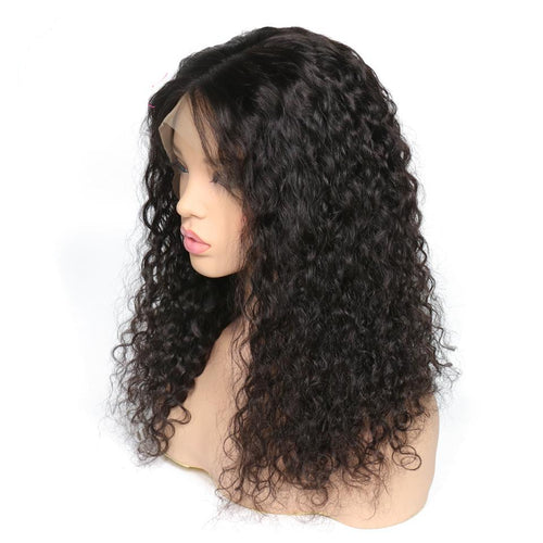 Bobbi (Water Wave Natural Black 100% Human Hair Lace Front Wig 13x6 LF 8
