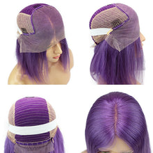 "Penelope (Silky Straight Bold Purple 100% Human Hair 13x6 Lace Front Bob Wig 10""-14"" Avail.)"