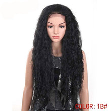 "Shak (28"" Layered Water Wave Ombre Rooted TT1B/33 Synthetic Heat Safe 13x4 LF Wig)"