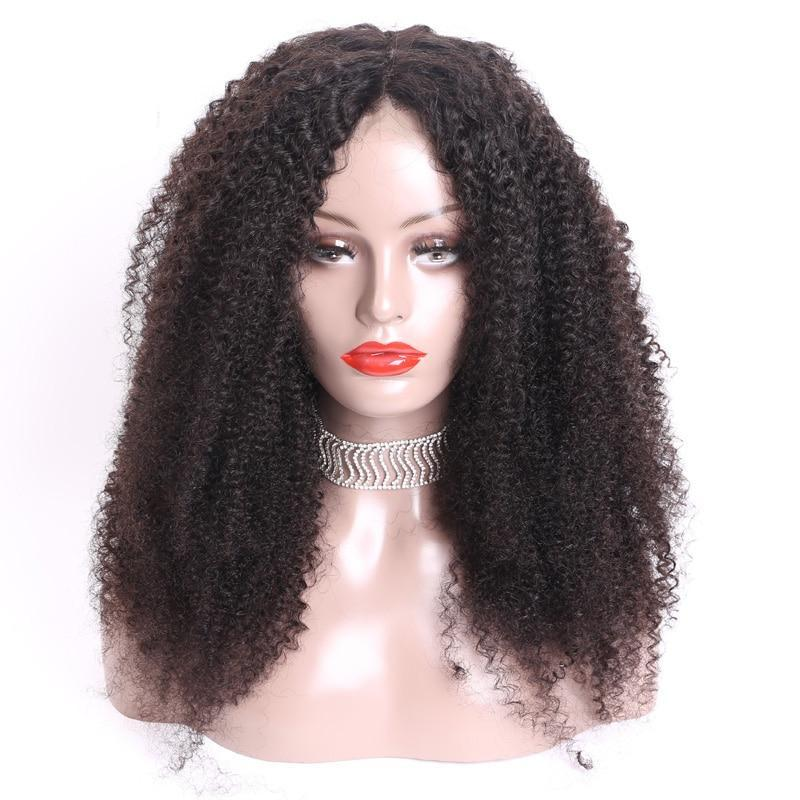 Lovely (360 Lace Wig Kinky Curly Natural Black 100% Remy Human Hair 150% Density 8