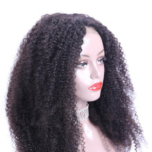 "Lovely (360 Lace Wig Kinky Curly Natural Black 100% Remy Human Hair 150% Density 8""-24"")"