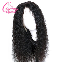 "Bobbi (Water Wave Natural Black 100% Human Hair Lace Front Wig 13x6 LF 8""-24"")"