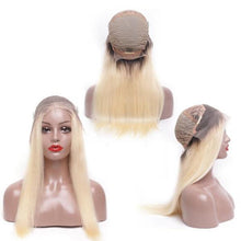 "Dare 150% Density (Silky Straight Blonde Ombre Roots 1B/613 13x4 LF 100% Remy Human Hair Wig 8""-22"")"